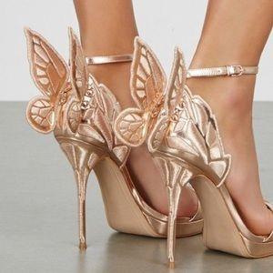 Sophia Rose Gold Butterfly Heels